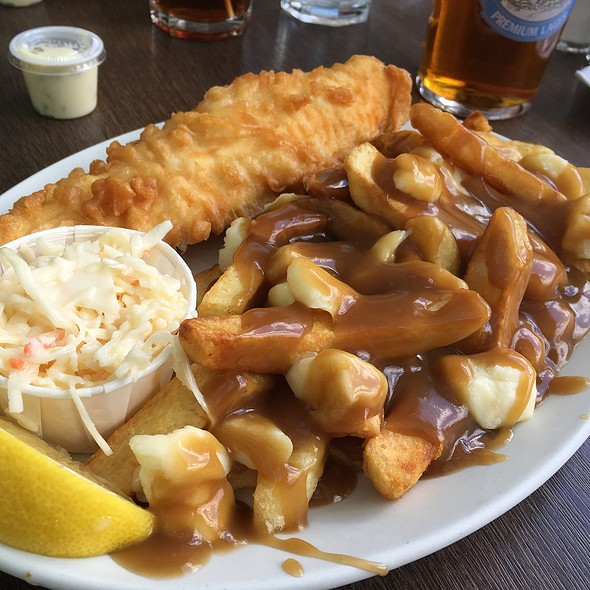 Halibut And Poutine @ The Olde Yorke Fish & Chips