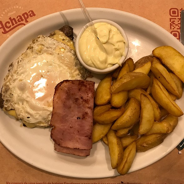 Fillet Mignon, Egg, Ham, French Fries And Mayo