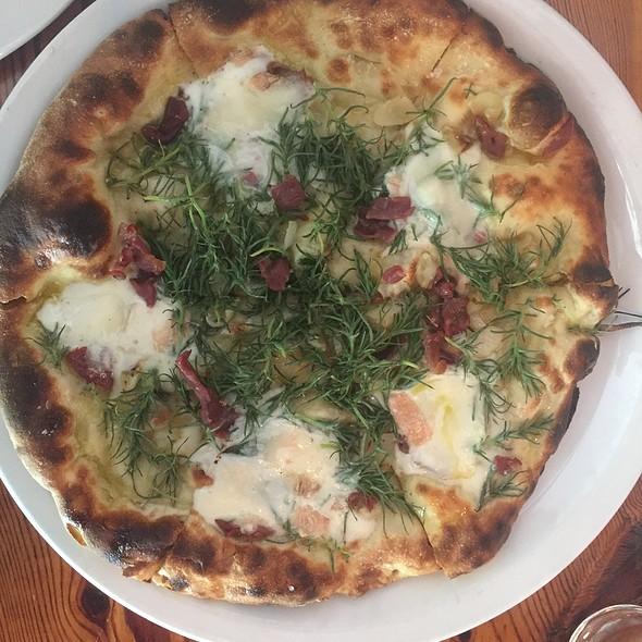 Crispy Bacon, Cipollini Onion, Agretti, And Taleggio Cheese Pizza