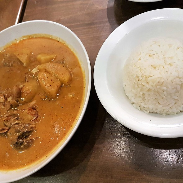 Red Curry With Beef And White Rice @ Eat Bkk