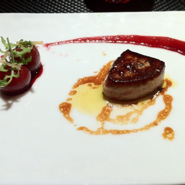 Foie Gras With Almond Stuffed Cherries @ L'Atelier de Joël Robuchon