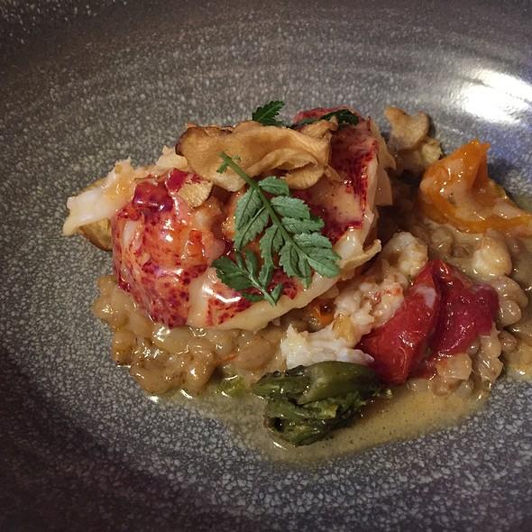 Lobster Barley Risotto, Fiddlehead Ferns - Tasting Menu #4