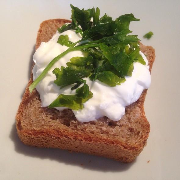 Rye Bread with Greek Yoghurt and Parsley