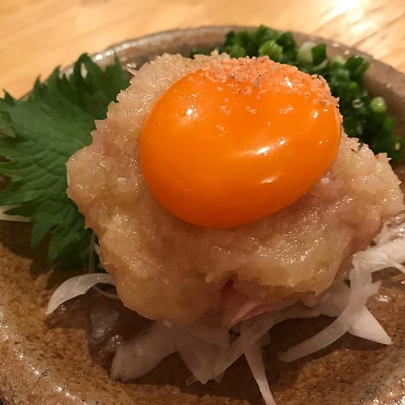 鶏塩ユッケ