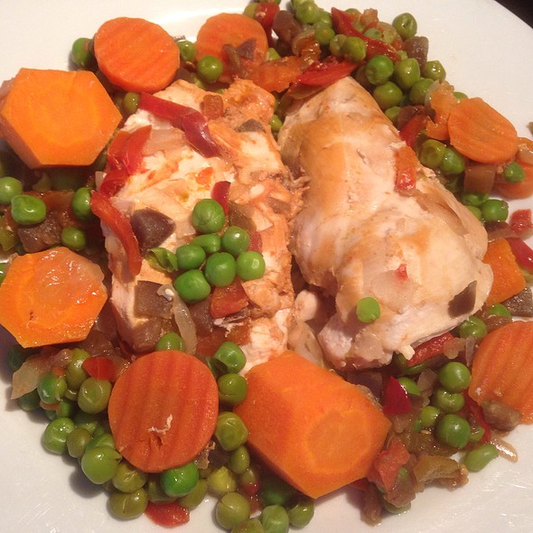 Chicken Fillet with Eggplant, Carrots, Onion, Tomato and Green Peas