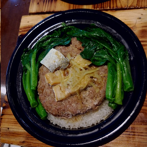Clay Pot Rice With Salted Fish And Minced Pork Patty