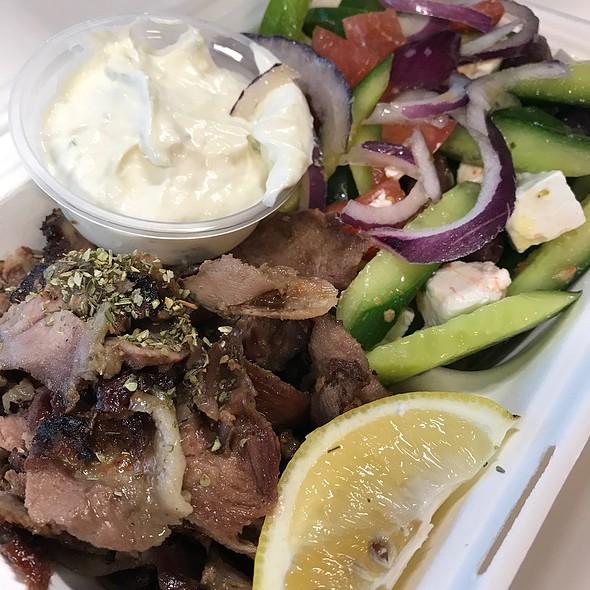 Lamb Yiros And Greek Salad