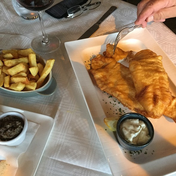 Battered Halibut With Fries