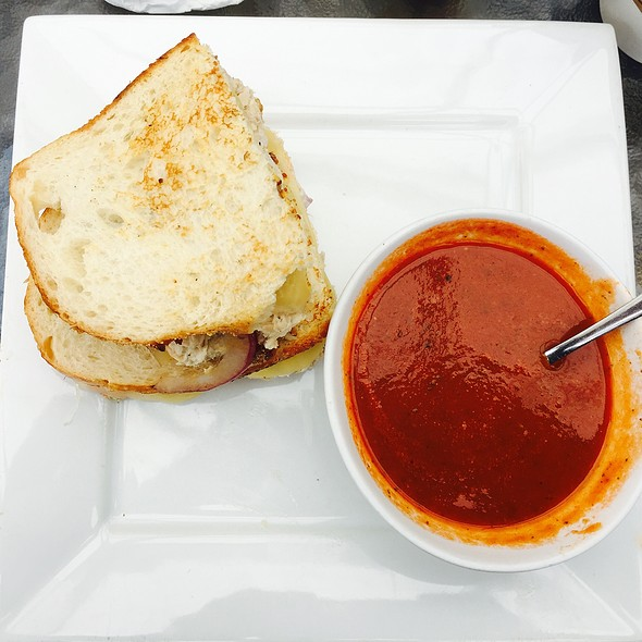 Tuna Melt and Tomato Basil Soup @ The Press an Artisan Cafe