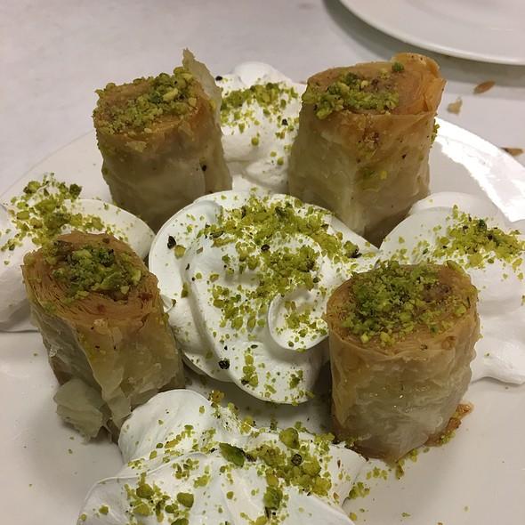 Walnut Stuffed Special Dessert @ Nalan Sultan Mediterranean Grill