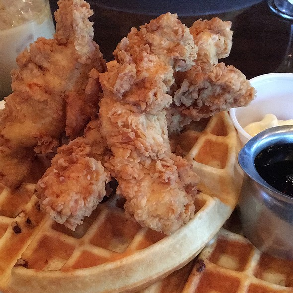 Chicken and Waffles @ Polonza Bistro