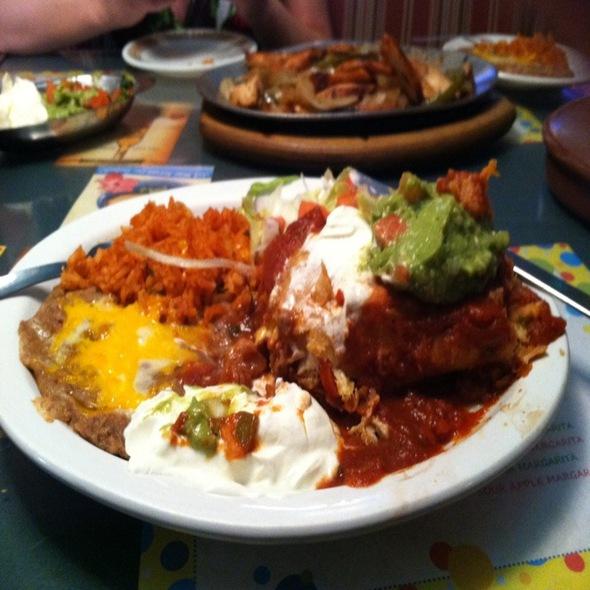 Chicken Chimichanga @ Azteca Mexican Restaurants