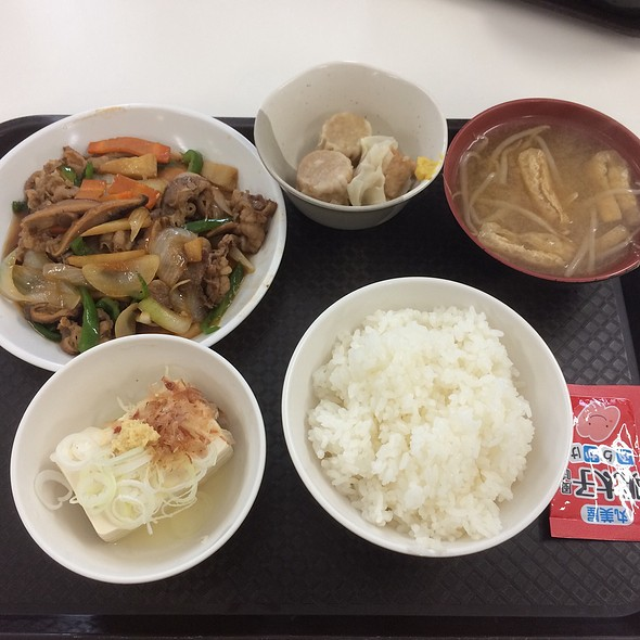 Stir Fried Vegetables with Beef Teishoku @ Unidentified Location In Chiba