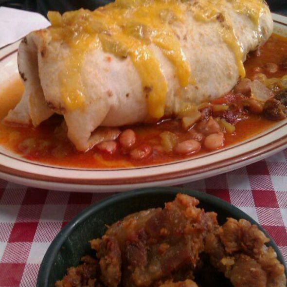 Fireman's Burrito @ Cecilia's Cafe