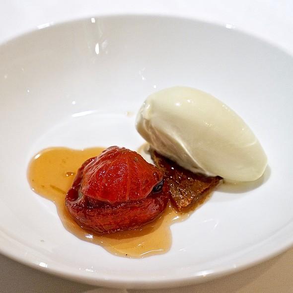 Tomato confit, lemon verbena ice cream