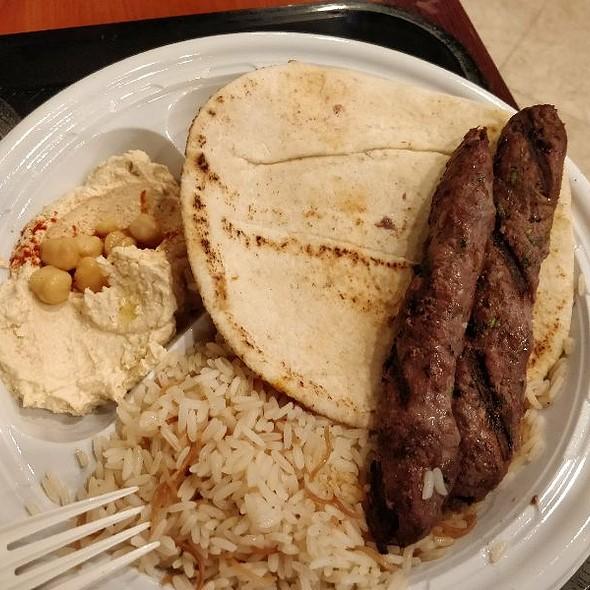 Beef Kafta Kebab Platter
