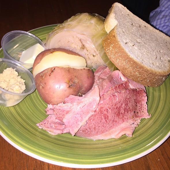 Corned beef and cabbage @ Clancy's Irish Pub