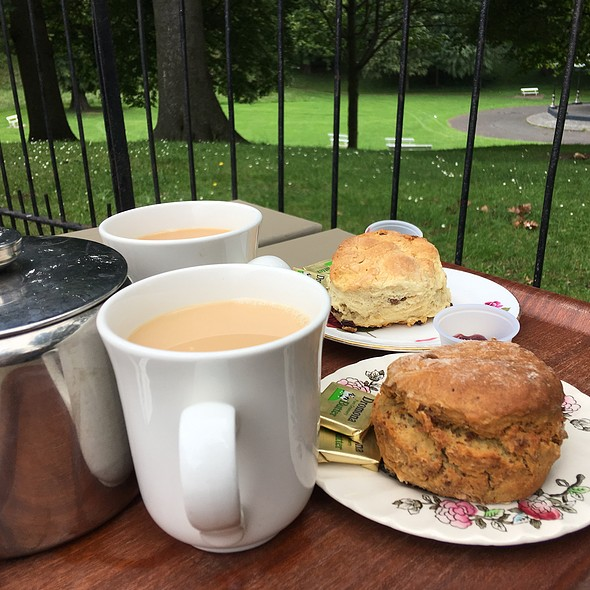 Tea, Brown Scone And Fruit Scone