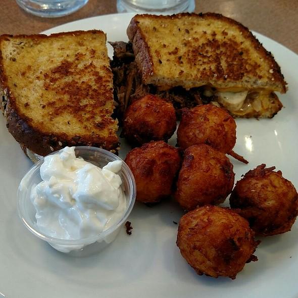 Pot Roast Melt W/ Cheddar Bacon Tots