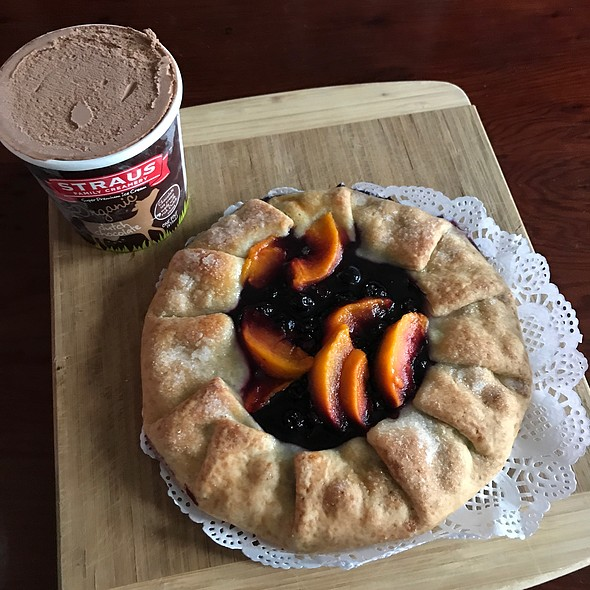 Peach And Blueberry Galette @ Home