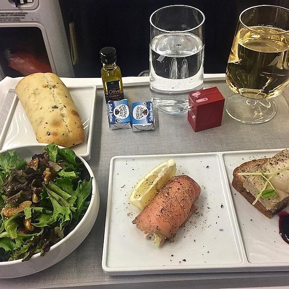 Gravlax and foie gras