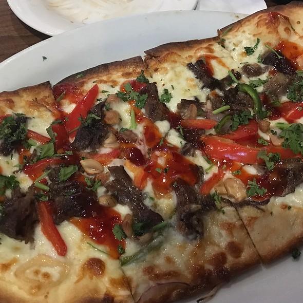 Thai Chili Short Rib Flatbread @ Oggi's Pizza & Brewing Company