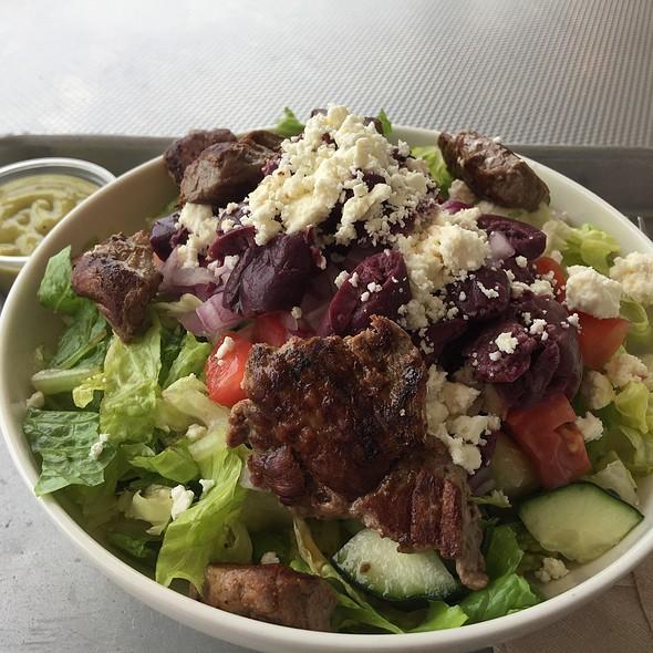 Mediterranean Salad With Grass Fed Steak