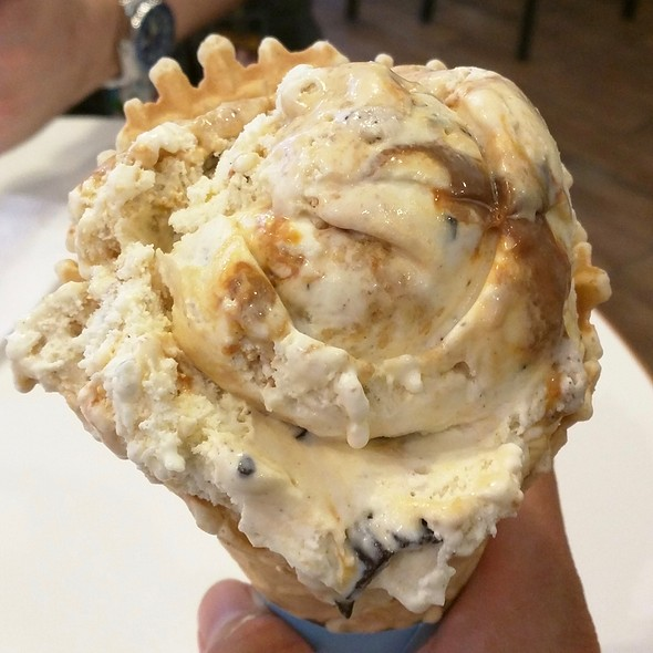 Coconut seven layer bar in waffle cone @ Ben & Jerry's