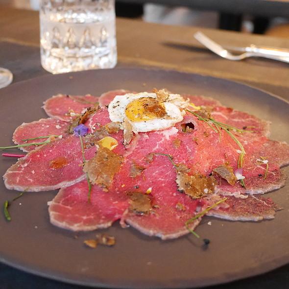 Beef Carpaccio, Quail Egg @ Da Clà Restaurant
