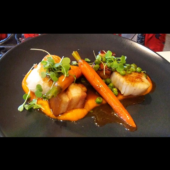 Bay Scallops and Braised Pork Belly @ Faubourg