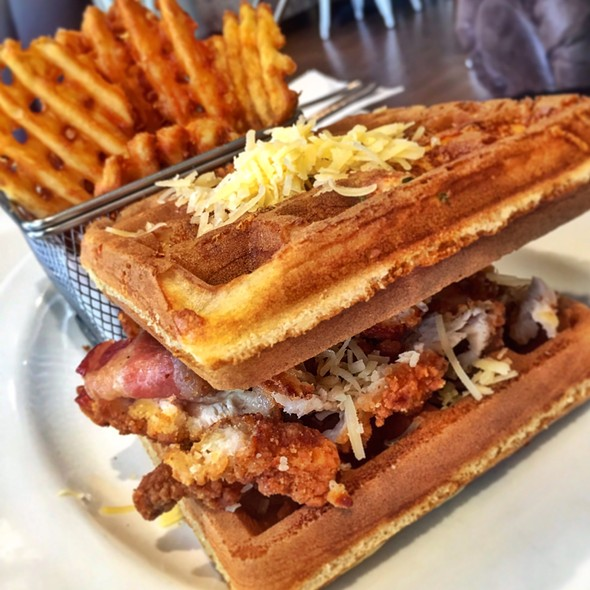 Chicken Waffle Sandwich @ Anonymous Cafe