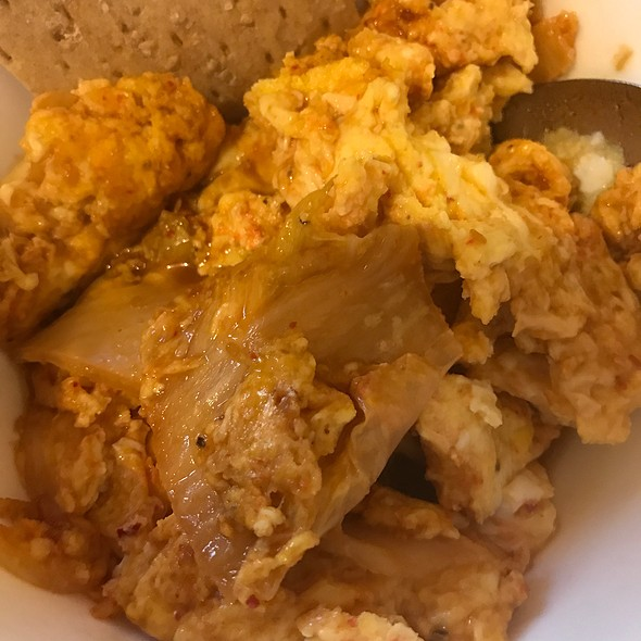 Eggs Scrambled With Kimchee