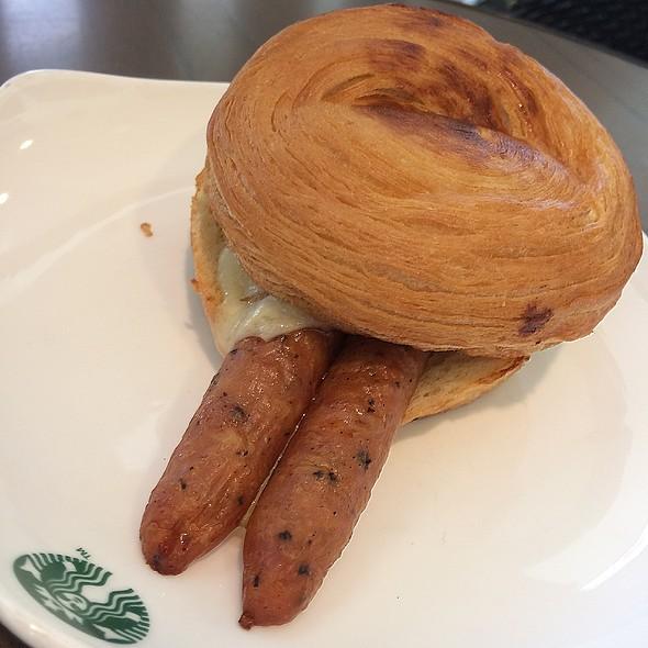 Garlic Chicken Sausage & Kale Frittata Croissant Bun