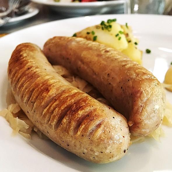 Bratwurst Mit Sauerkraut And Rosterdapfel @ Cafe Sabarsky