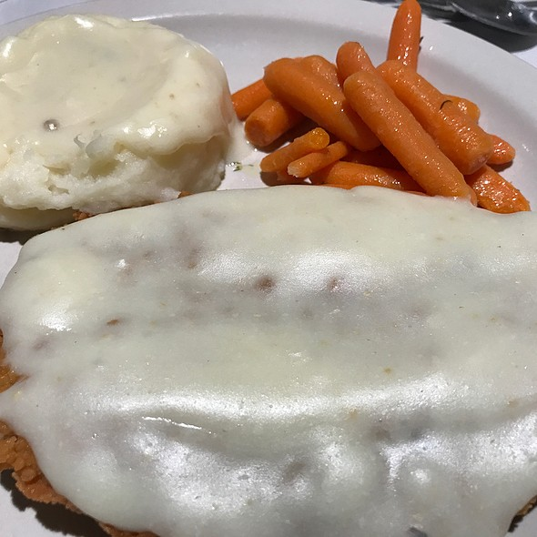 Chicken Fried Steak, Mashed Potatoes And Carrots