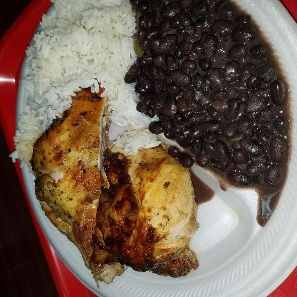 Half Chicken, Rice and Black Beans