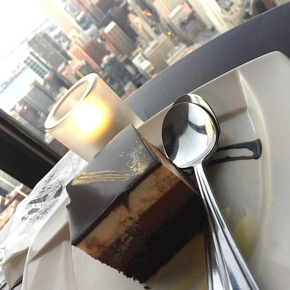 White And Dark Chocolate Mousse Cake @ Signature Room 96th Floor