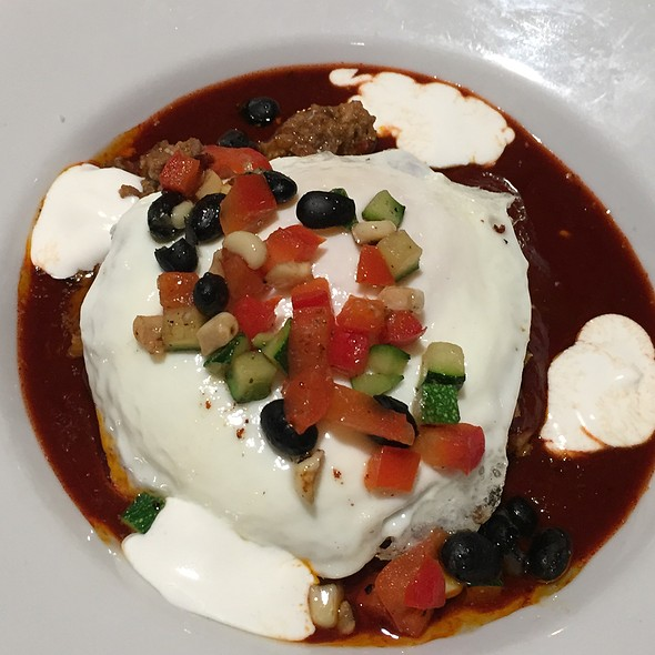 Picadillo New Mexico Style Enchiladas With Fried Egg