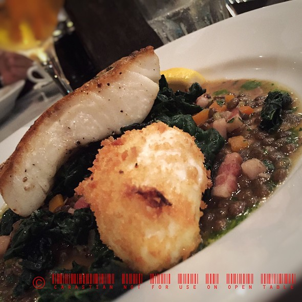 Cod On Spinach With Bacon @ Corpus Christi College
