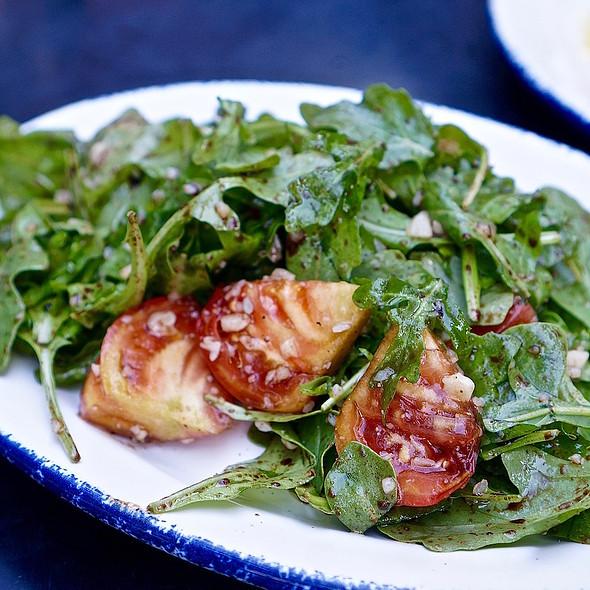 Summer tomato salad, arugula, parmesan
