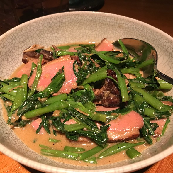 Stir-Fried Duck With Thai Samphire And Spring Onions