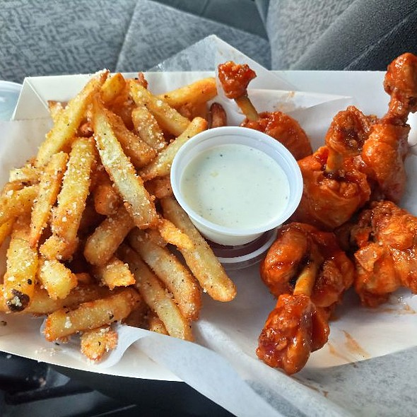 Sweet Chili Wings And Garlic Parm Fries