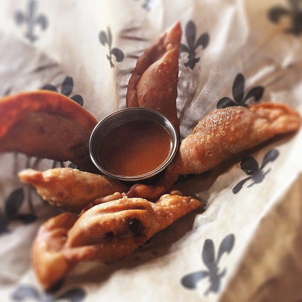 Chorizo And Cheese Wontons @ Bayou Wine Garden