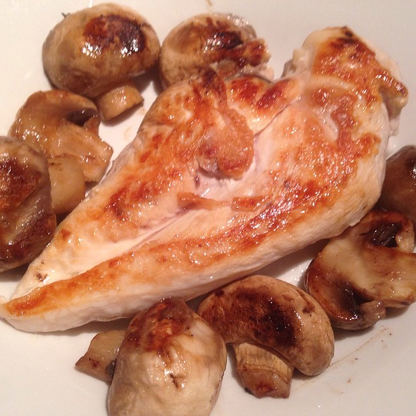 Grilled Chicken Fillet with Mushrooms