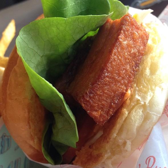 Pork Belly On Brioche Bun @ Betty's Burgers & Concrete Co