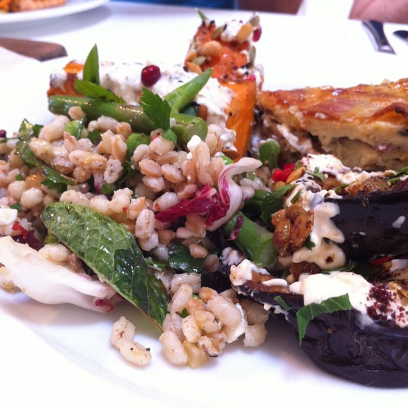 Selection of salads @ Ottolenghi