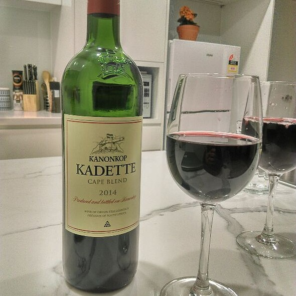 Kanonkop kadette wine @ Ash's Kitchen