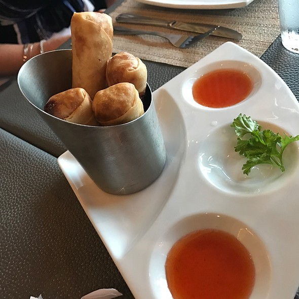 Crispy Veggie Spring Rolls @ Kinnara Thai Delivery