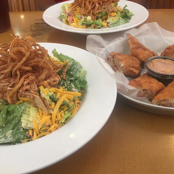 Bbq Chicken Salad W/Redneck Egg-Rolls