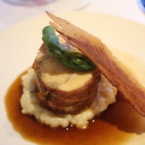 Hoen with truffle in parma ham and fennel risotto @ Brasserie De Koepel